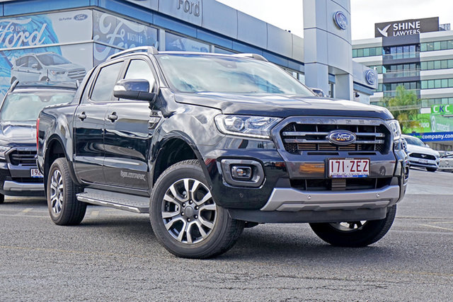 Used Ford Ranger PX MkIII 2019.75MY Wildtrak Pick-up Double Cab, 2019 Ford Ranger PX MkIII 2019.75MY Wildtrak Pick-up Double Cab Black 6 Speed Sports Automatic