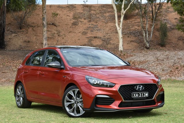Demo Hyundai i30 PD.3 MY19 N Line D-CT Premium, 2019 Hyundai i30 PD.3 MY19 N Line D-CT Premium Lava Orange 7 Speed Sports Automatic Dual Clutch