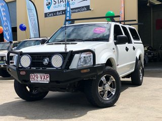 2007 Holden Rodeo RA MY07 LX (4x4) White 5 Speed Manual Crew Cab Chassis.