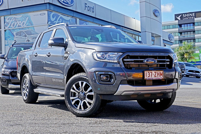 Used Ford Ranger PX MkIII 2019.75MY Wildtrak Pick-up Double Cab, 2019 Ford Ranger PX MkIII 2019.75MY Wildtrak Pick-up Double Cab Grey 6 Speed Sports Automatic