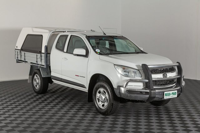 Used Holden Colorado RG MY15 LS Space Cab, 2015 Holden Colorado RG MY15 LS Space Cab Summit White 6 speed Automatic Cab Chassis