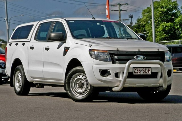 Used Ford Ranger PX XL Double Cab 4x2, 2011 Ford Ranger PX XL Double Cab 4x2 White 5 Speed Manual Utility