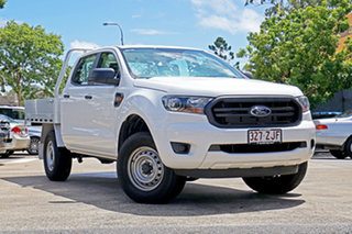 2019 Ford Ranger PX MkIII 2019.75MY XL Double Cab Arctic White 6 Speed Sports Automatic Cab Chassis.