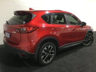 2016 Mazda CX-5 KE1032 Akera SKYACTIV-Drive i-ACTIV AWD Red/Black 6 Speed Sports Automatic Wagon.