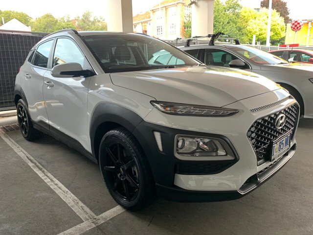 Demo Hyundai Kona OS.2 MY19 Active D-CT AWD, 2019 Hyundai Kona OS.2 MY19 Active D-CT AWD Chalk White 7 Speed Sports Automatic Dual Clutch Wagon