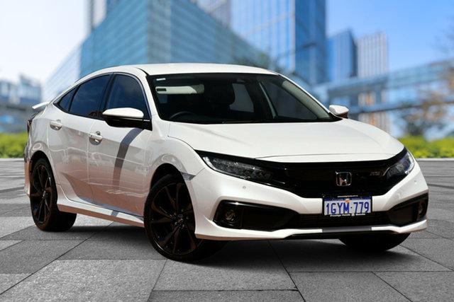 Demo Honda Civic 10th Gen MY19 RS, 2019 Honda Civic 10th Gen MY19 RS Platinum White 1 Speed Constant Variable Hatchback