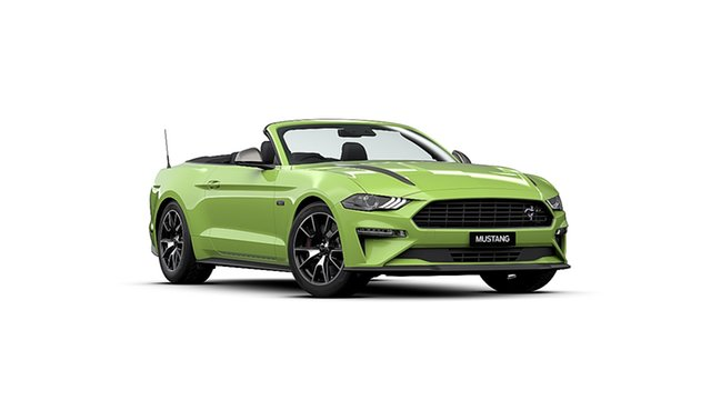 New Ford Mustang FN 2020MY High Performance Dandenong, 2020 Ford Mustang FN 2020MY High Performance Grabber Lime 10 Speed Sports Automatic Convertible