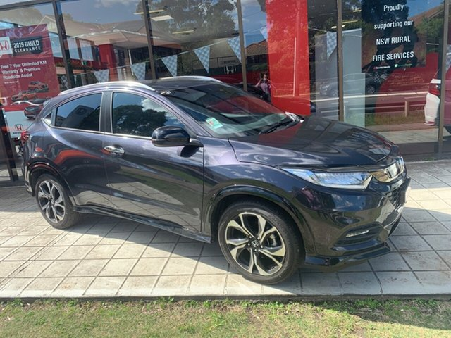 Demo Honda HR-V MY19 RS, 2019 Honda HR-V MY19 RS Ruse Black 1 Speed Constant Variable Hatchback