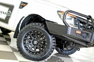 2012 Ford Ranger PX XL 3.2 (4x4) White 6 Speed Manual Cab Chassis.