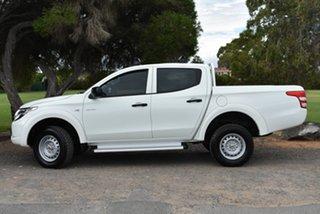 2016 Mitsubishi Triton MQ MY16 GLX Double Cab White 6 Speed Manual Utility.