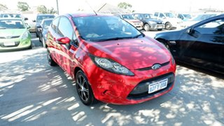 2008 Ford Fiesta WS CL Red 5 Speed Manual Hatchback.