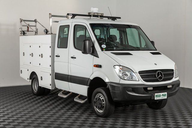 Used Mercedes-Benz Sprinter NCV3 MY12 , 2012 Mercedes-Benz Sprinter NCV3 MY12 White 5 speed Automatic Cab Chassis