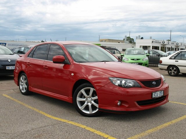 Used Subaru Impreza G3 MY09 RS AWD, 2009 Subaru Impreza G3 MY09 RS AWD Red 4 Speed Sports Automatic Sedan