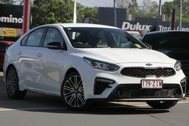 Used Kia Cerato BD MY20 GT DCT, 2019 Kia Cerato BD MY20 GT DCT Clear White 7 Speed Sports Automatic Dual Clutch Sedan