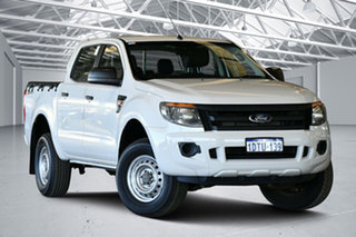 2011 Ford Ranger PX XL 2.2 Hi-Rider (4x2) Cool White 6 Speed Automatic Crew Cab Pickup.