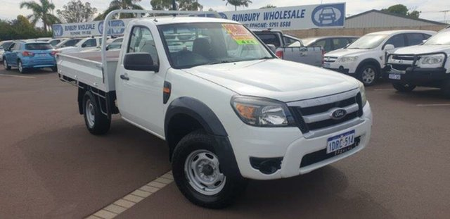 Used Ford Ranger PK XL, 2011 Ford Ranger PK XL White 5 Speed Manual Cab Chassis