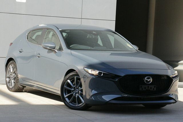 Demo Mazda 3 BP2HLA G25 SKYACTIV-Drive Evolve, 2019 Mazda 3 BP2HLA G25 SKYACTIV-Drive Evolve Polymetal Grey 6 Speed Sports Automatic Hatchback