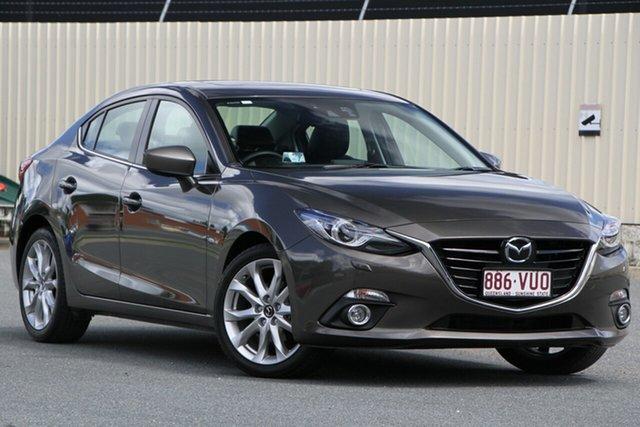 Used Mazda 3 BM5238 SP25 SKYACTIV-Drive Astina, 2015 Mazda 3 BM5238 SP25 SKYACTIV-Drive Astina Titanium Flash 6 Speed Sports Automatic Sedan