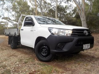 2018 Toyota Hilux TGN121R Workmate 4x2 White 5 Speed Manual Cab Chassis.
