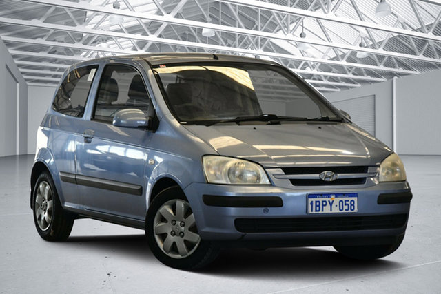 Used Hyundai Getz TB XL, 2003 Hyundai Getz TB XL Lilac Blue 5 Speed Manual Hatchback