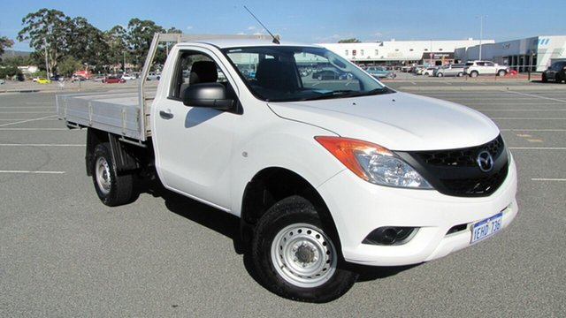 Used Mazda BT-50 UP0YD1 XT 4x2 Hi-Rider, 2013 Mazda BT-50 UP0YD1 XT 4x2 Hi-Rider White 6 Speed Sports Automatic Cab Chassis