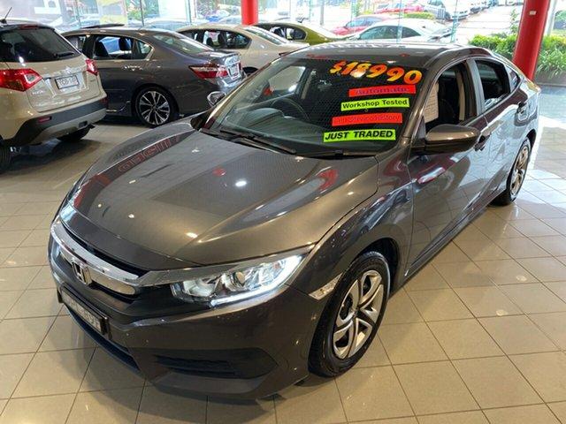 Used Honda Civic 10th Gen MY17 VTi, 2017 Honda Civic 10th Gen MY17 VTi Grey 1 Speed Constant Variable Sedan