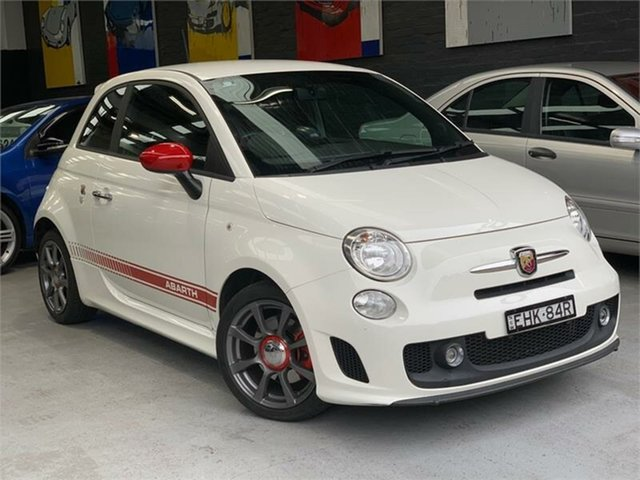Used Abarth 595 Series 3 Turismo, 2016 Abarth 595 Series 3 Turismo White Sports Automatic Single Clutch Hatchback