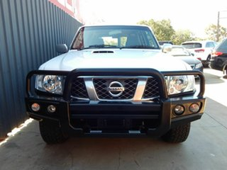 2015 Nissan Patrol Y61 GU 9 ST White 4 Speed Automatic Wagon.