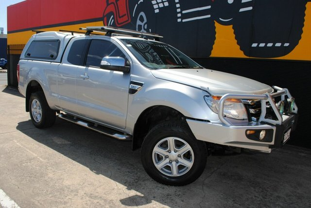 Used Ford Ranger PX XLT Super Cab, 2012 Ford Ranger PX XLT Super Cab Silky Silver 6 Speed Sports Automatic Utility