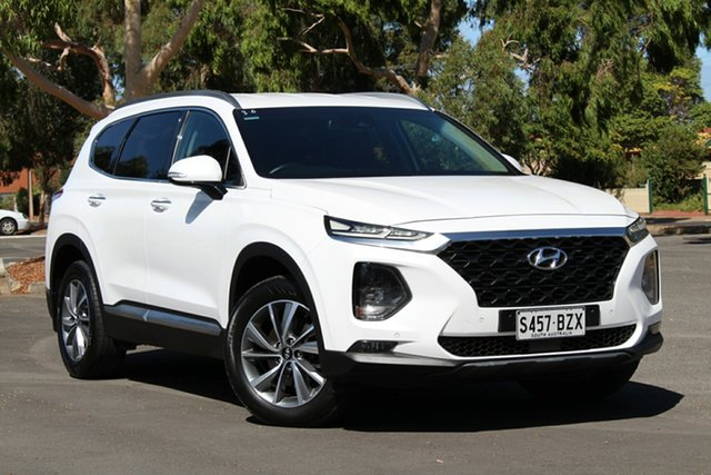 Used Hyundai Santa Fe TM MY19 Elite, 2018 Hyundai Santa Fe TM MY19 Elite White 8 Speed Sports Automatic Wagon