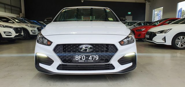 Demo Hyundai i30 PD.3 MY20 N Line D-CT, 2019 Hyundai i30 PD.3 MY20 N Line D-CT Polar White 7 Speed Sports Automatic Dual Clutch Hatchback