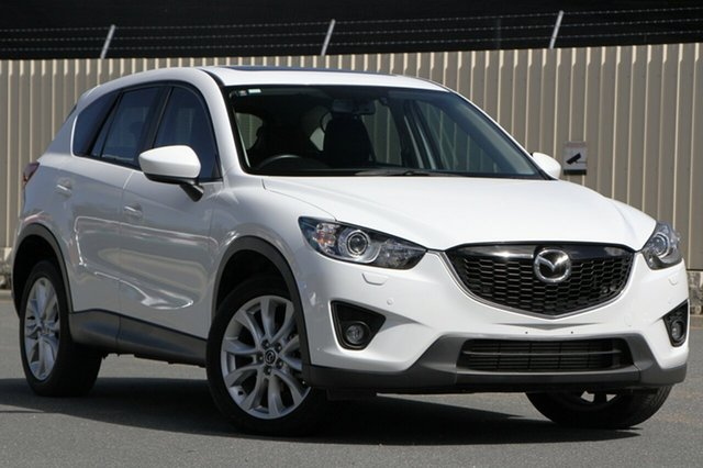 Used Mazda CX-5 KE1022 Grand Touring SKYACTIV-Drive AWD, 2014 Mazda CX-5 KE1022 Grand Touring SKYACTIV-Drive AWD White 6 Speed Sports Automatic Wagon