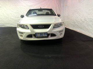 2008 Ford Falcon FG Ute Super Cab White 5 Speed Automatic Utility.