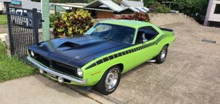 1970 Plymouth Barracuda Green 3 Speed Automatic Coupe.