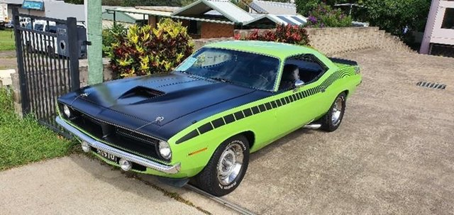 Used Plymouth Barracuda  , 1970 Plymouth Barracuda Green 3 Speed Automatic Coupe