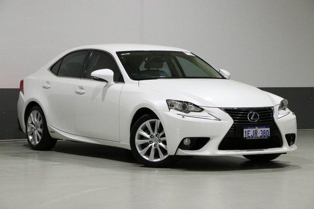 Used Lexus IS300H AVE30R Luxury Hybrid, 2013 Lexus IS300H AVE30R Luxury Hybrid Pearl White Continuous Variable Sedan
