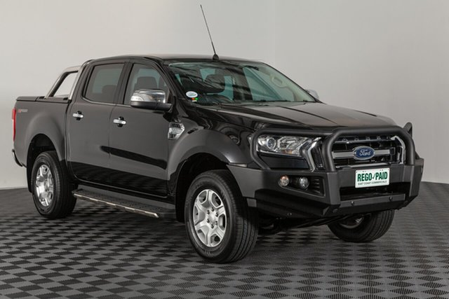 Used Ford Ranger PX MkII XLT Double Cab 4x2 Hi-Rider, 2016 Ford Ranger PX MkII XLT Double Cab 4x2 Hi-Rider Shadow Black 6 speed Automatic Utility