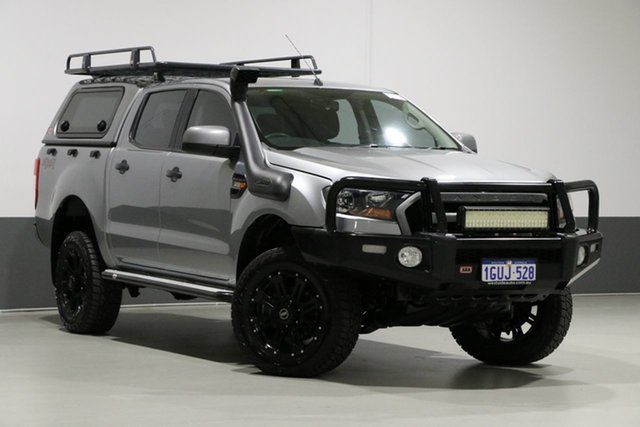 Used Ford Ranger PX MkII XLS 3.2 (4x4), 2015 Ford Ranger PX MkII XLS 3.2 (4x4) Silver 6 Speed Automatic Dual Cab Utility