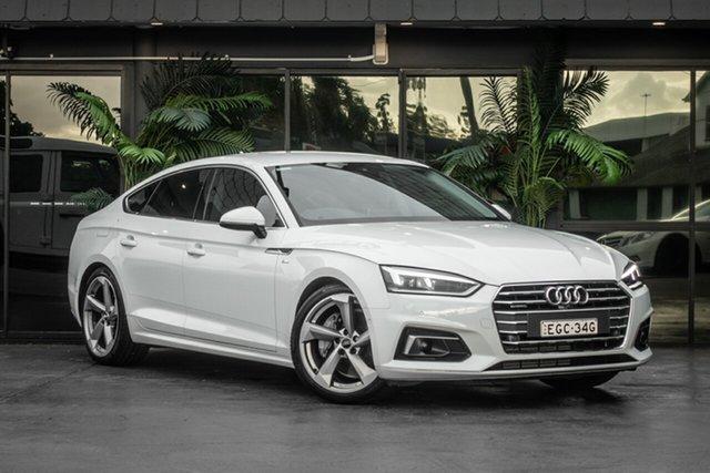 Used Audi A5 F5 MY18 Sport Sportback S Tronic Quattro, 2017 Audi A5 F5 MY18 Sport Sportback S Tronic Quattro White 7 Speed Sports Automatic Dual Clutch