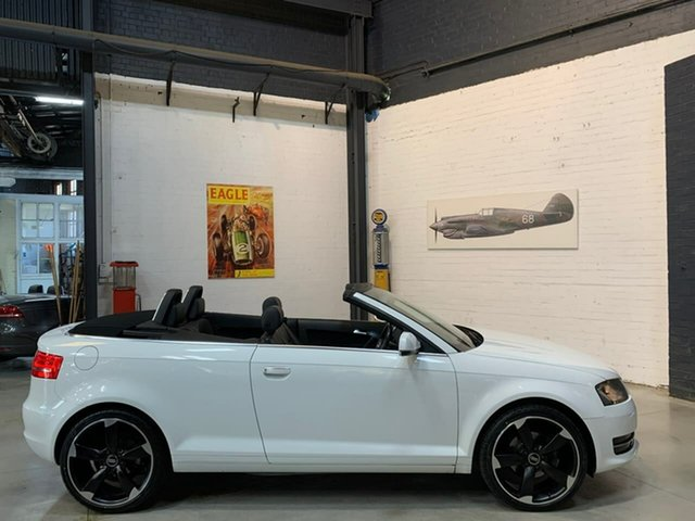 Used Audi A3 8P MY11 TFSI S Tronic Attraction, 2011 Audi A3 8P MY11 TFSI S Tronic Attraction White 7 Speed Sports Automatic Dual Clutch Convertible