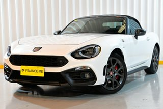 2018 Abarth 124 348 Series 1 Spider White 6 Speed Manual Roadster.