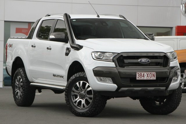Used Ford Ranger PX MkII Wildtrak Double Cab, 2017 Ford Ranger PX MkII Wildtrak Double Cab White 6 Speed Manual Utility