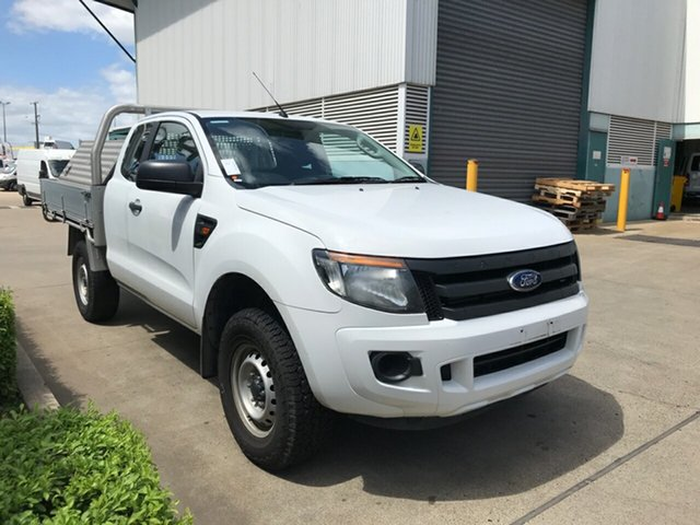 Used Ford Ranger PX XL Super Cab 4x2 Hi-Rider, 2014 Ford Ranger PX XL Super Cab 4x2 Hi-Rider White 6 speed Automatic Cab Chassis