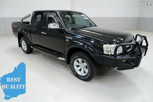 Used Ford Ranger PJ XLT Super Cab, 2008 Ford Ranger PJ XLT Super Cab Black 5 Speed Manual Utility