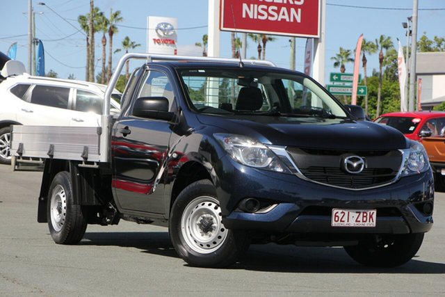 Used Mazda BT-50 UR0YE1 XT 4x2, 2017 Mazda BT-50 UR0YE1 XT 4x2 Blue 6 Speed Manual Cab Chassis