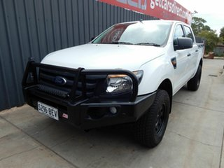 2015 Ford Ranger PX XL Double Cab White 6 Speed Manual Utility.