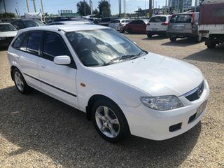 2003 Mazda 323 White 5 Speed Manual Wagon.