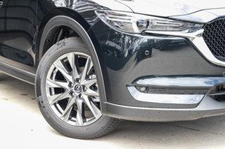 2019 Mazda CX-5 KF4WLA Akera SKYACTIV-Drive i-ACTIV AWD Jet Black 6 Speed Sports Automatic Wagon.