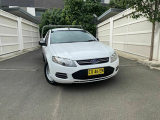 2012 Ford Falcon FG MkII Super Cab White 6 Speed Sports Automatic Cab Chassis.