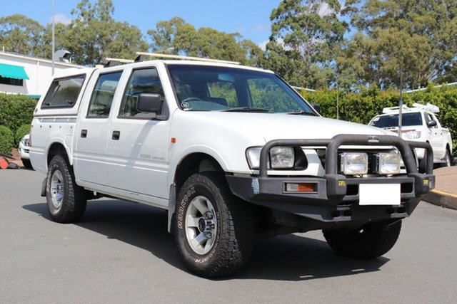 Used Holden Rodeo TF R9 LX Crew Cab, 2001 Holden Rodeo TF R9 LX Crew Cab White 5 speed Manual Utility